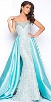 Mac Duggal Jewel Trim Embroidered Strapless Evening Dress