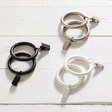 Classic Steel Curtain Rings with Clips .75'', Dark Iron