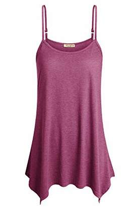 Cyanstyle Tank Tops for Women Plus Size Young Ladies Tunic Tanks O Neck Designer Clothing Casual Summer Fashion 2019 Pleat Flattering Sleeveless Cami Junior Flowy Swing Camisoles XL