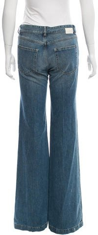 Chloé Distressed Wide-Leg Jeans w/ Tags