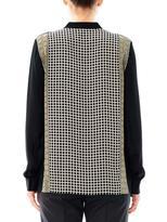 Ohne Titel Grid-print silk blouse