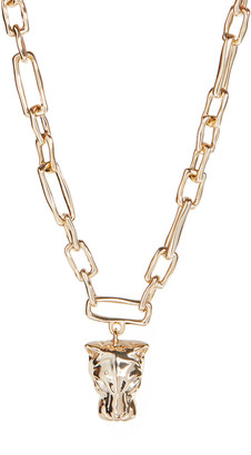 Alexis Bittar Panther Head Chain Link Necklace
