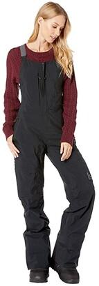 Burton ak](r) GORE-TEX(r) Kimmy 2-Layer Bib Pants (True Black) Women's Snow Bibs One Piece