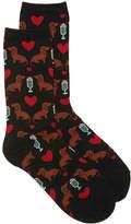 Hot Sox Women's Milkshake Dogs Women's Crew Socks