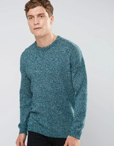 Asos Relaxed Crew Neck Sweater with Dropped Shoulder in Cotton Twist