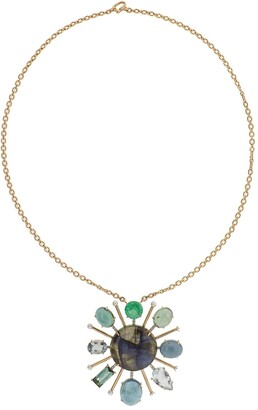 Irene Neuwirth 18kt rose gold Starburst necklace
