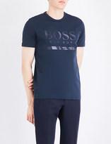 BOSS GREEN Logo-detail cotton-jersey T-shirt