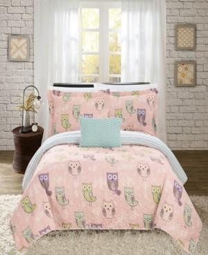 Chic Home Owl Farm 4 Piece Full Quilt Set