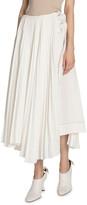 Proenza Schouler Pleated Buckle-Waist Skirt