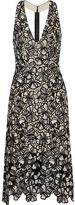 Alice + Olivia Noreen Cutout Floral-Lace Dress
