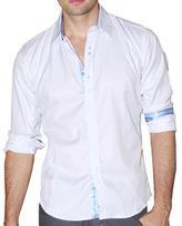 191 Unlimited Men's White Cotton-blend Shirt