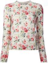 Comme des Garcons floral print ribbed sweatshirt