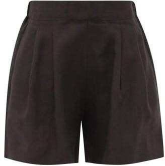 ASCENO Zurich High-rise Organic-linen Shorts - Black