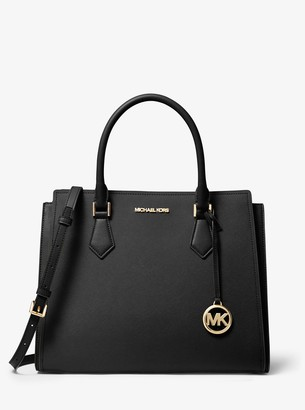 MICHAEL Michael Kors Hope Large Saffiano Leather Satchel