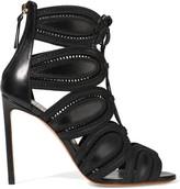 Francesco Russo Cutout Leather Sandals - Black