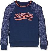 Original Penguin Boy's Space Dye Crew Neck Sweatshirt