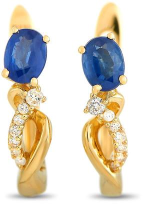 Non Branded Lb Exclusive 14K 0.72 Ct. Tw. Diamond & Sapphire Earrings