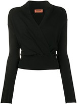 Missoni long sleeve wrap front top