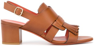 Santoni Buckled Chunky-Heel Sandals
