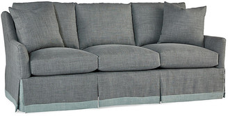Cyrus Skirted Sofa - Shale Gray Linen - Massoud - shale gray/light blue