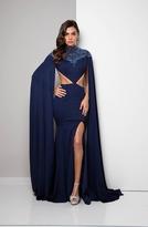 Terani Couture Ravishing Cape Sleeves Sheath Gown 1713E3323