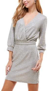 City Studios Juniors' Metallic Sheath Dress