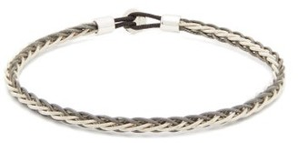 Miansai Nexus Rhodium-plated Sterling-silver Bracelet - Black Multi