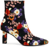 Thumbnail for your product : STAUD Brando Floral-print Velvet Ankle Boots