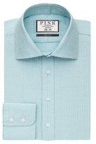 Thomas Pink James Texture Slim Fit Button Cuff Shirt