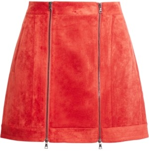 BCBGMAXAZRIA Faux-Suede Mini Skirt