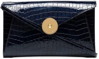 Complét Rose croc effect leather clutch bag