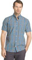 Izod Men's Advantage Cool FX Regular-Fit Plaid Button-Down Shirt