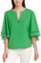 Trina Turk Carry On Silk-Blend Top