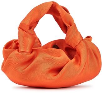 The Row Ascot Two orange satin-twill clutch