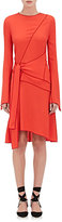 Proenza Schouler Women's Crepe Asymmetric Wrap Dress-ORANGE