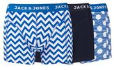 Burton Mens Jack & Jones 3 Pack Blue Design Trunks*