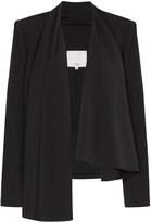 Tibi draped open-front blazer jacket