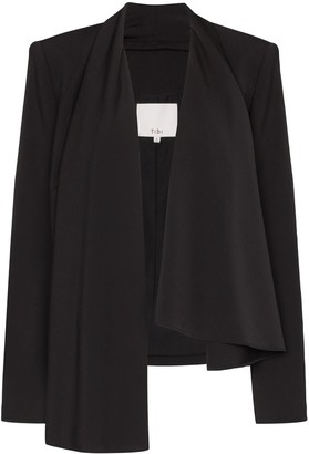 Tibi Draped Open-Front Blazer Jacket