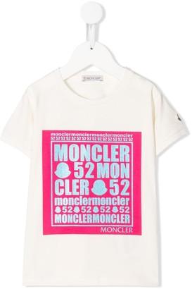 Moncler Enfant Moncler 52 logo T-shirt