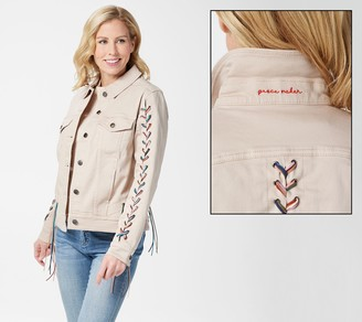 Peace Love World Jacket with Fringe Braided Trim