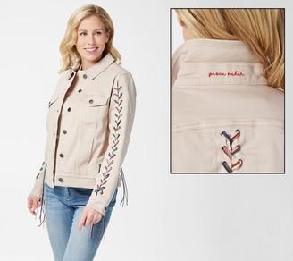 Peace Love World Jacket with Fringe Braided Trim
