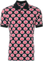 Love Moschino peace symbol print polo shirt