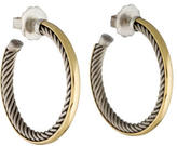David Yurman Two-Tone Cable Inside Hoop Earrings