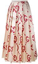 Gucci 'Gucci Ghost' logo print skirt - women - Silk - 42