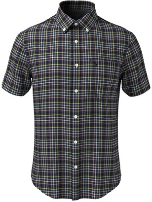 Original Penguin Oxford Gingham Short Sleeve Slim Fit Shirt