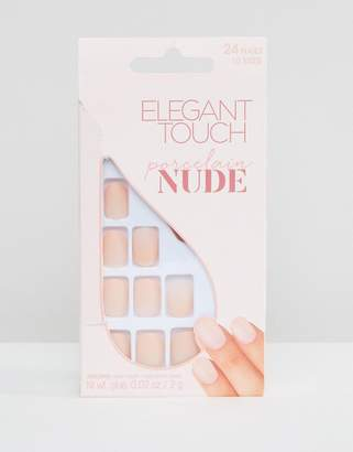 Elegant Touch Nude Collection Squoval Matte Nails-Pink
