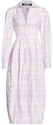 Jacquemus Plaid Midi Shirtdress