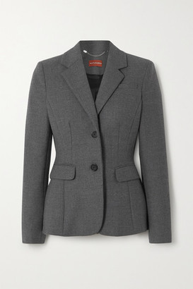Altuzarra Fenice Wool-blend Blazer - Dark gray