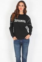 Pencey Sophomore Sweatshirt in Black