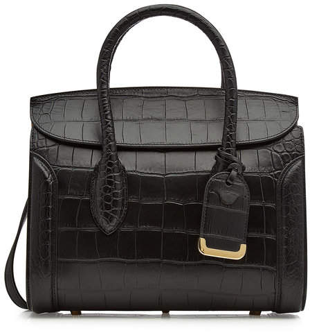 Alexander McQueen Heroine 30 Embossed Leather Tote